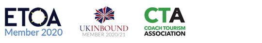 ETOA Member 2020, UKInbound Member 2020/21 and Coach Tourism Association
