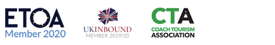 ETOA Member 2020, UKInbound Member 2019/20 and Coach Tourism Association